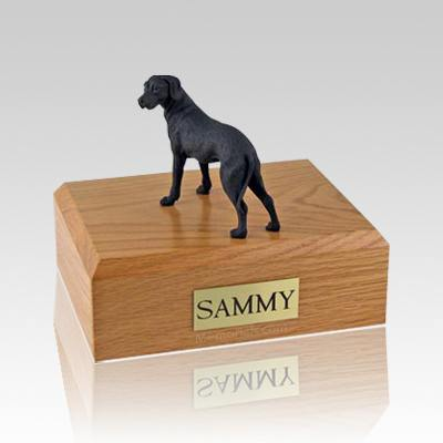 Great Dane Black Ears Down Standing Large Dog Urn