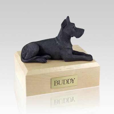Great Dane Black Large Dog Urn