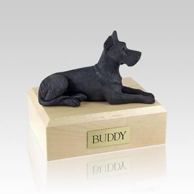 Great Dane Black Medium Dog Urn
