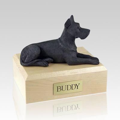 Great Dane Black X Large Dog Urn