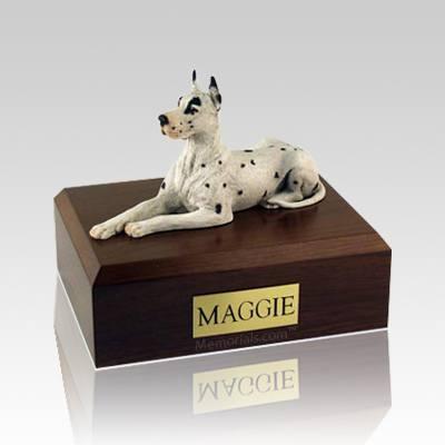 Great Dane Harlequin Large Dog Urn