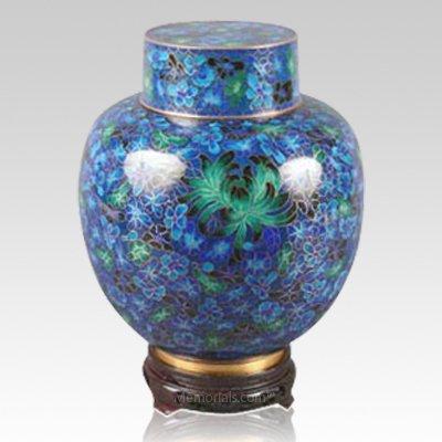 Emperor Blue Large Cloisonne Urn