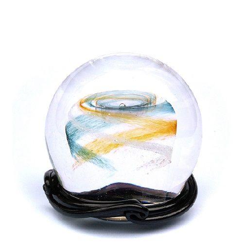 Green & Gold Galaxy Medium Memory Glass Keepsake