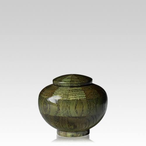 Green Keepsake Wood Urn