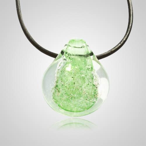 Green Memorial Jewelry Pendant