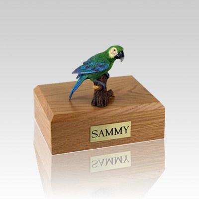 Green Parrot Medium Bird Cremation Urn