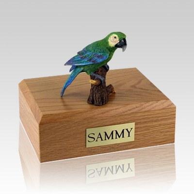 Green Parrot X Large Bird Cremation Urn