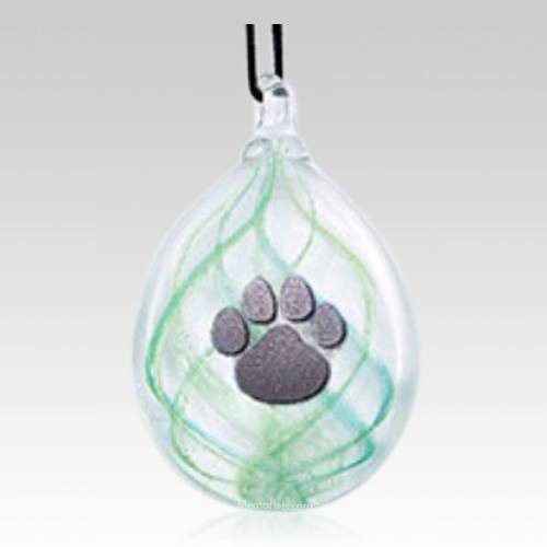 Green Paw Keepsake Ornament