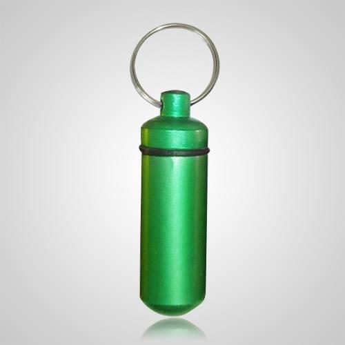 Green Pet Keepsake Keychain