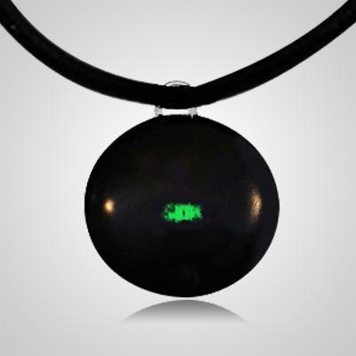 Green Spot Cremation Ash Pendant