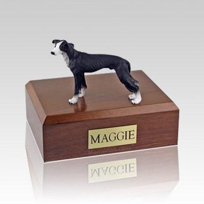 Greyhound Black Large Dog Urn