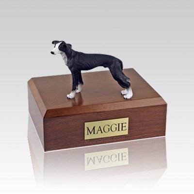 Greyhound Black Medium Dog Urn