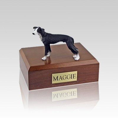 Greyhound Black Small Dog Urn
