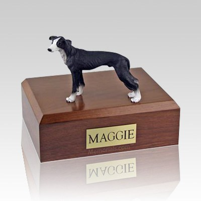 Greyhound Black X Large Dog Urn
