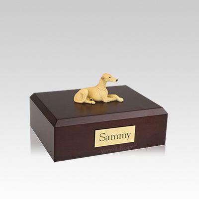 Greyhound Fawn Small Dog Urn