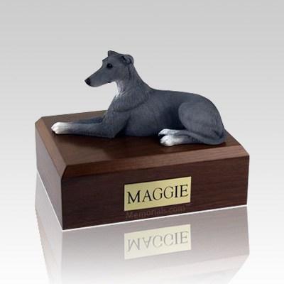 Greyhound Grey Large Dog Urn