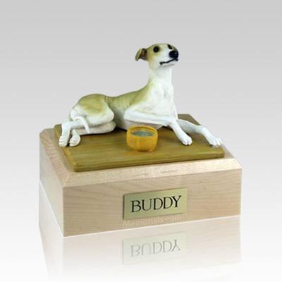 Greyhound Tan Medium Dog Urn