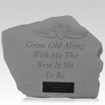 Grow Old With Me Memory Stone