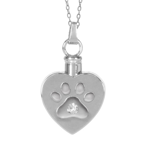 Heart Paw Cremation Jewelry