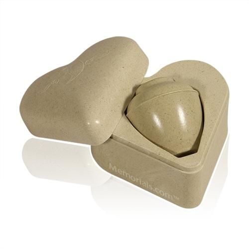 Heart Set Biodegradable Pet Cremation Urn