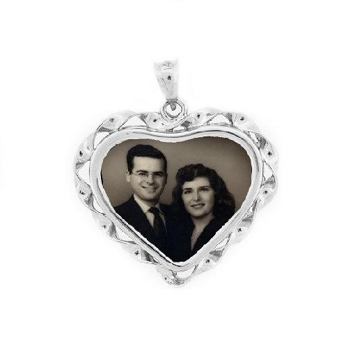 Heart Silver Photo Jewelry