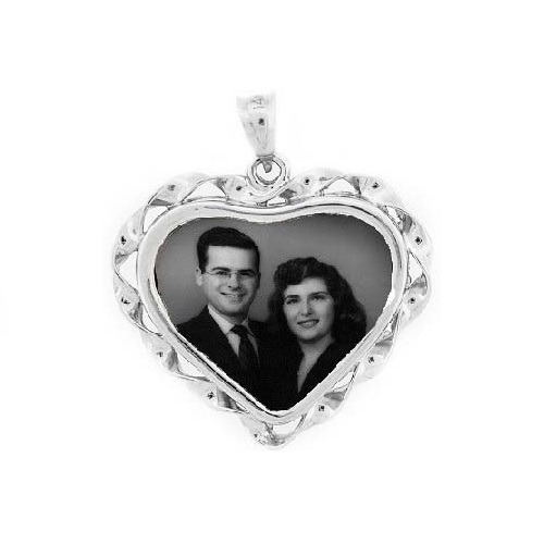 Heart White Gold Etched Jewelry