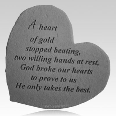 Heart of Gold Heart Stone