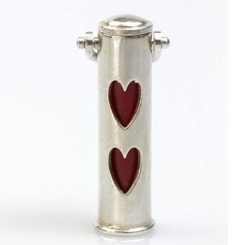 Hearts Pet Cremation Keychain Urn