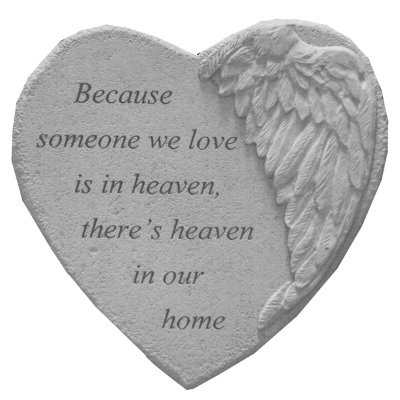Heaven Angel Heart Stone