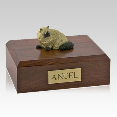Himalayan Laying Cat Cremation Urns