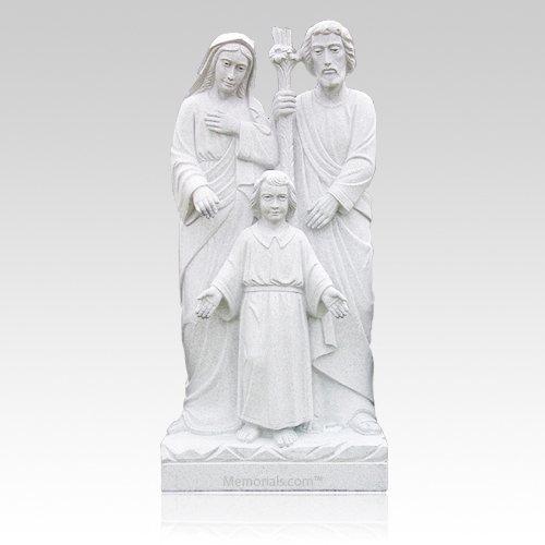 Holy Family Granite Statue