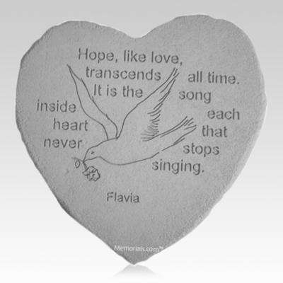 Hope Dove Heart Stone
