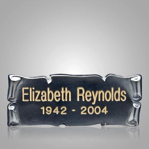 Horizontal Silver Nameplate Medallion