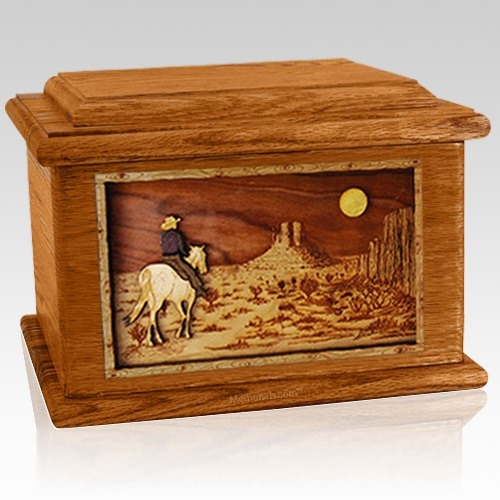Horse Moon Mahogany Memory Chest Cremation Urn