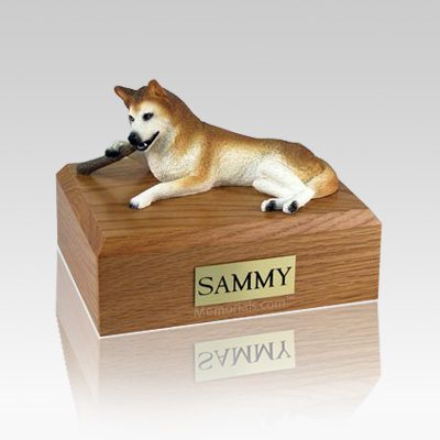 Husky Red & White Blue Eyes Large Dog Urn