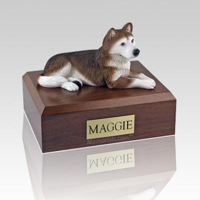 Husky Red Large Dog Urn