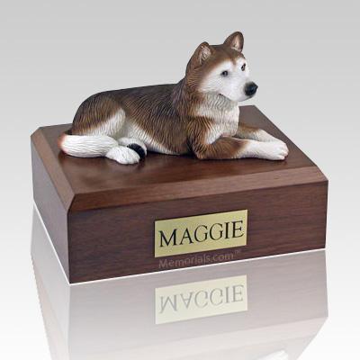 Husky Red X Large Dog Urn