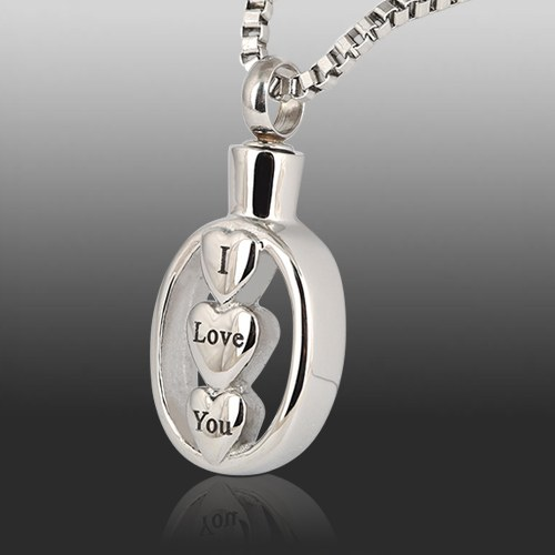 I Love You Cremation Jewelry