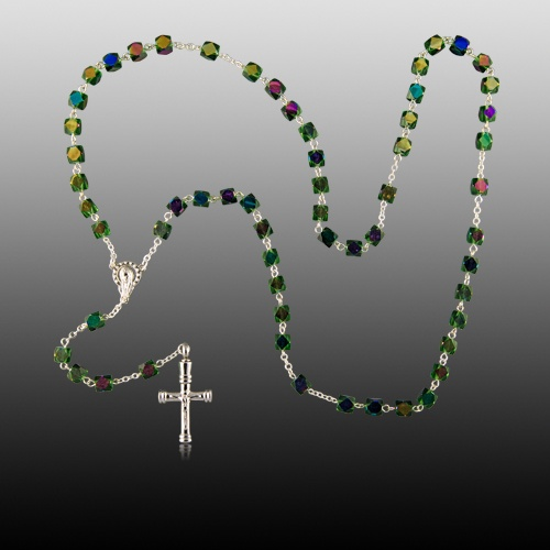 Iridescent Cremation Rosary