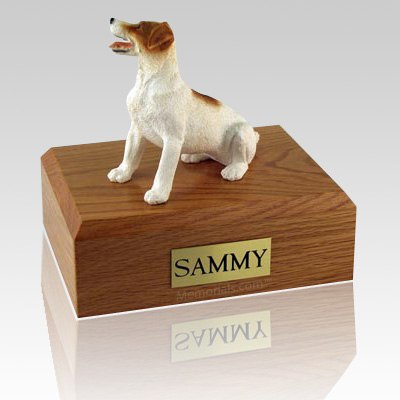Jack Russell Terrier Brown Sitting X Large Dog Urn