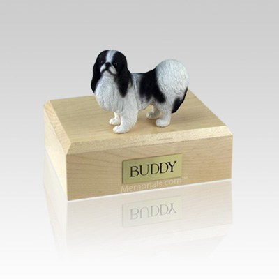 Japanese Chin Black & White Small Dog Urn