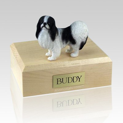Japanese Chin Black & White X Large Dog Urn