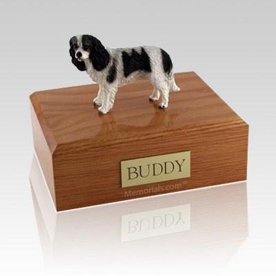 King Charles Spaniel Black Large Dog Urn