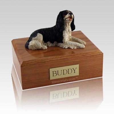 King Charles Spaniel Black Laying X Large Dog Urn