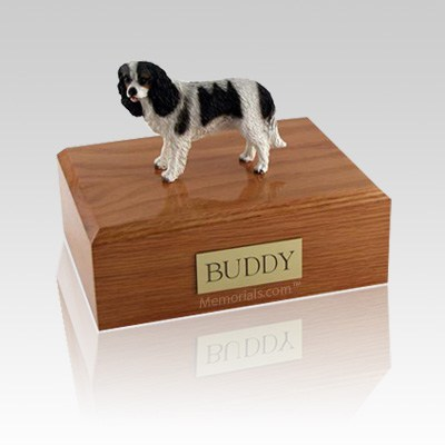 King Charles Spaniel Black Medium Dog Urn