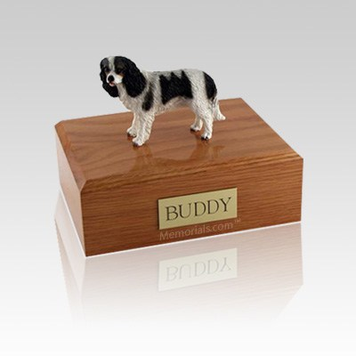 King Charles Spaniel Black Small Dog Urn