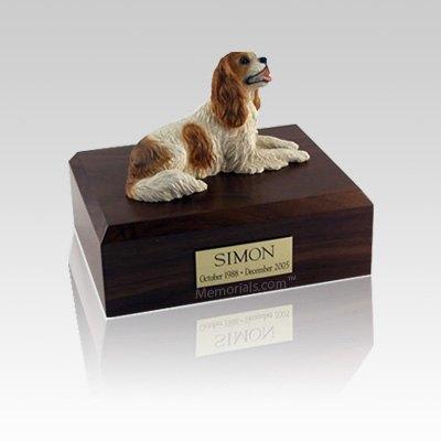 King Charles Spaniel Brown Small Dog Urn