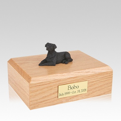 Labrador Black Laying Large Dog Urn