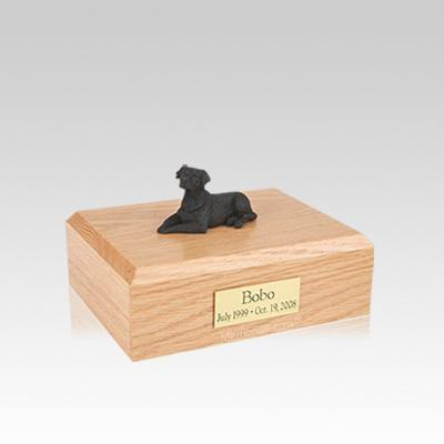 Labrador Black Laying Small Dog Urn