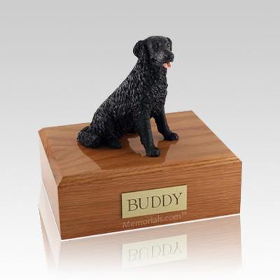 Labrador Black Long-haired Large Dog Urn